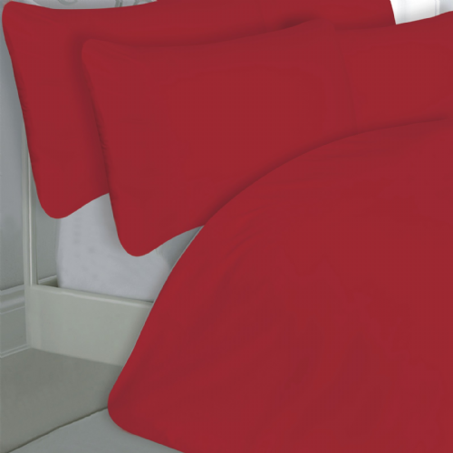 RED COLOUR 200 THREAD COUNT LUXURY QUALITY EGYPTIAN COTTON BEDDING DUVET SET